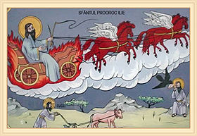 Suirea la cer a Sf. Ilie - pictură populară